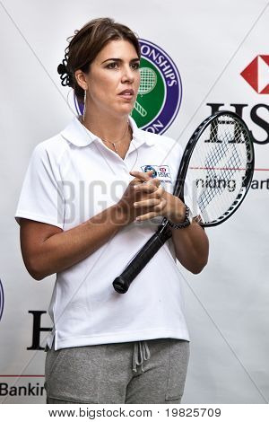 NEW YORK - JUNE 22:  Jennife Capriati attend the HSBC presents Wimbledon  on June 22, 2009 in New York City.