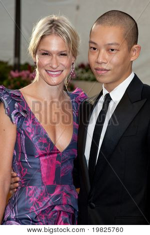 NEW YORK - SEPTEMBER 21: Julie Macklowe (L) and Jason Wu attend the Metropolitan Opera season opening with a performance of 'Tosca' at the Lincoln Center on September 21, 2009 in New York City.