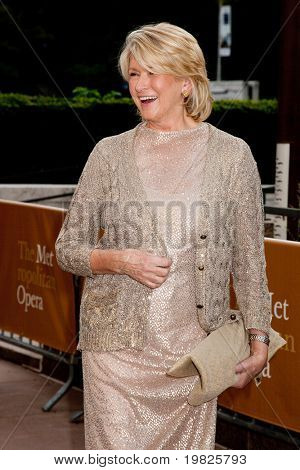 NEW YORK - SEPTEMBER 21: Martha Stewart attends the Metropolitan Opera 2009-10 season opening with a performance of 'Tosca' at Lincoln Center  on September 21, 2009 in New York City.