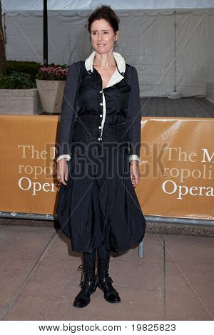 NEW YORK - SEPTEMBER 21: Actress Julie Taymor attends the Metropolitan Opera season opening with a performance of 'Tosca' at the Lincoln Center on September 21, 2009 in New York City.