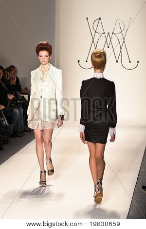 NEW YORK - FEBRUARY 11: Model walks the runway for the Ruffian collections Mercedes-Benz Fashion Week at Lincoln Centre on February 11, 2011 in New York.