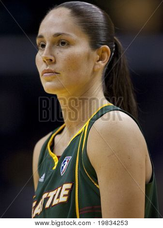LOS ANGELES, CA. - SEPTEMBER 16: Sue Bird playing during the WNBA playoff game of the Sparks vs. Storm on September 16, 2009 in Los Angeles.