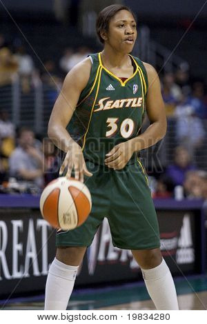 LOS ANGELES, CA. - SEPTEMBER 16: Tanisha Wright in action during the WNBA playoff game of the Sparks vs. Storm on September 16, 2009 in Los Angeles.