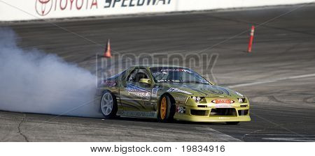 IRWINDALE, CA. - OCTOBER 16: Michael Essa competes at Toyota Speedway during Formula Drift round 7 on October 16th 2009 at the Toyota Speedway in Irwindale.