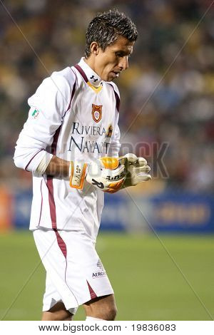 CARSON, CA. - JANUARY 9: Mario Rodrigues during the InterLiga 2010 match of Club America and Estudiantes Tecos at the Home Depot Center January 9, 2010 in Carson, CA.