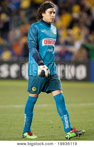 CARSON, CA. - JANUARY 9: Francisco Guillermo Ochoa during the InterLiga 2010 match of Club America and Estudiantes Tecos at the Home Depot Center January 9, 2010 in Carson, CA.