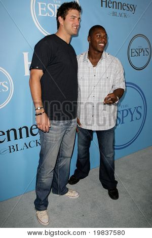 HOLLYWOOD, CA. - JULY 13: Denver Broncos football player Knowshon Moreno (R) & Indianapolis Colts football player Tom Brandstater (L) attend Fat Tuesday at The ESPYs July 13, 2010 in Hollywood, Ca.