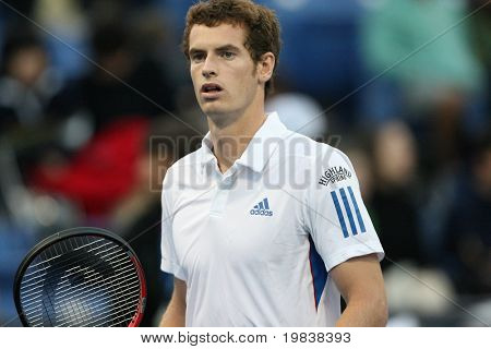LOS ANGELES, CA. - JULY 29: [1] [WC] Andy Murray of Great Britain (pictured) and [Q] Tim Smyczek of USA play a match at  the 2010 Farmers Classic on July 29 2010 in Los Angeles.