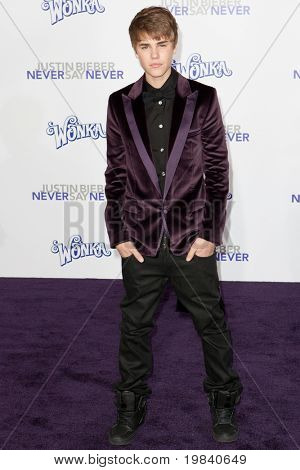 LOS ANGELES, CA - FEB 8: Singer Justin Bieber arrives at the Paramount Pictures Justin Bieber: Never Say Never premiere at Nokia Theater L.A. Live on February 8, 2011 in Los Angeles, California.