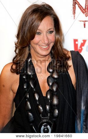 SANTA MONICA, CA. - FEB 22: Fashion designer & creator of DKNY clothing label Donna Karan arrives at the Nomad Two Worlds Los Angeles gala at 59 Pier Studios West on Feb 22, 2011 in Santa Monica, CA.