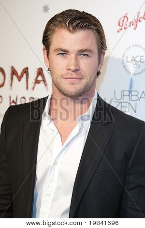 SANTA MONICA, CA. - FEB 22: Australian actor Chris Hemsworth arrives at the Nomad Two Worlds Los Angeles debut gala at 59 Pier Studios West on Feb 22, 2011 in Santa Monica, CA.