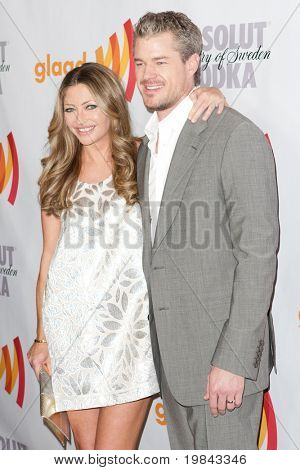 LOS ANGELES, CA. - APR 17: Actress Rebecca Gayheart and actor Eric Dane arrive at the 21st Annual GLAAD Media Awards at Hyatt Regency Century Plaza Hotel on April 17, 2010 in Los Angeles, CA.