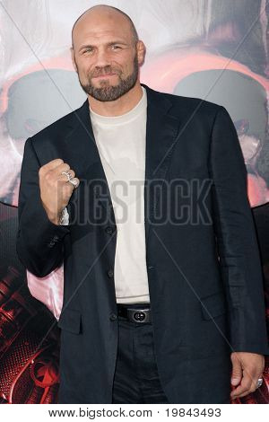 "HOLLYWOOD, CA. - AUG 3: UFC Hall of Fame fighter Randy ""The Natural"" Couture arrives at The Expendables Los Angeles premiere at Grauman's Chinese Theater on August 3, 2010 in Hollywood, Ca."