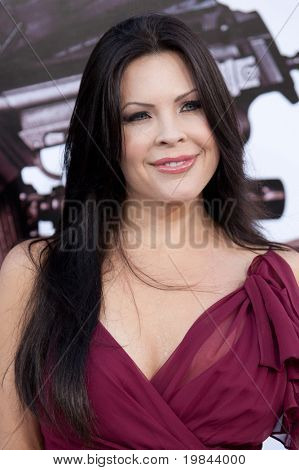 HOLLYWOOD, CA. - AUG 3: Christa Campbell arrives at The Expendables Los Angeles premiere at Grauman's Chinese Theater on August 3, 2010 in Hollywood, Ca.