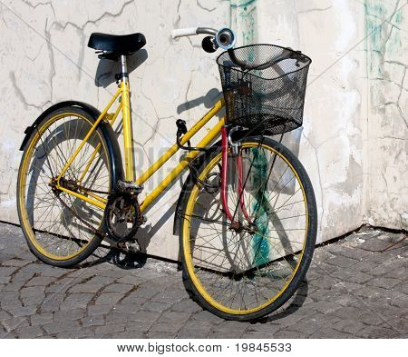 Yellow Bike Wit Basket