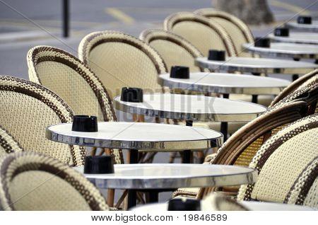 Café terrace in Paris