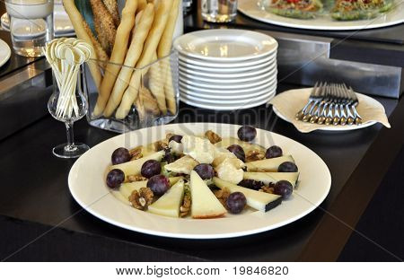 A plate of italian cheese
