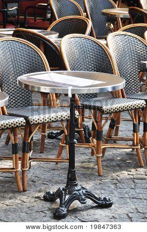 Caf�© terrace in Paris