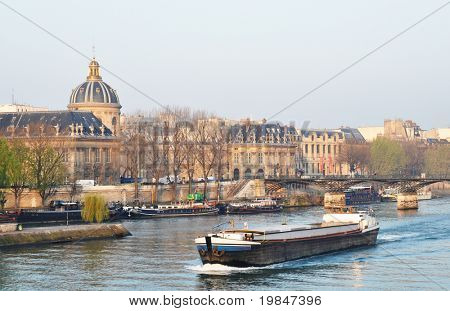 A barge on the river Seine