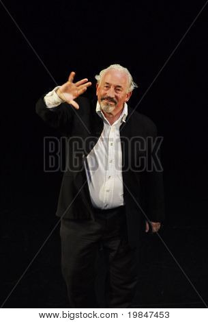 BRIGHTON, UK-JULY 16: Simon Callow greats the public after performing Shakespeare The Man Of Stratford, July 16, 2010 in Brighton, United Kingdom