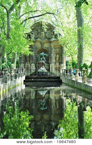 Medicis Fountain in the Luxembourg garden, Paris