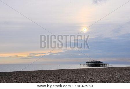 The west Pier in Brighton, UK