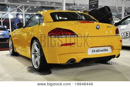 LONDON, UK - NOVEMBER 7: A BMW Z4 sDrive35is at the MPH motorshow, November 7, 2010 in London, United Kingdom