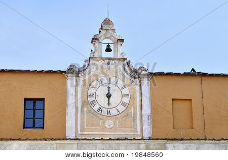 An old clock in Italy