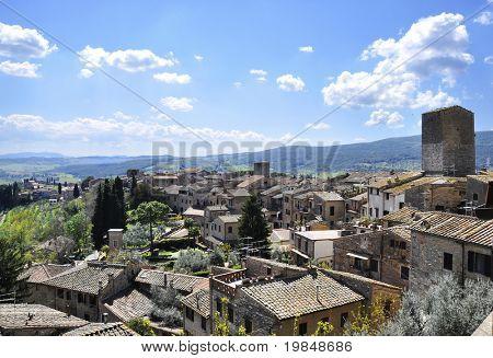 San Gimignano medieval village in Tuscany, italy