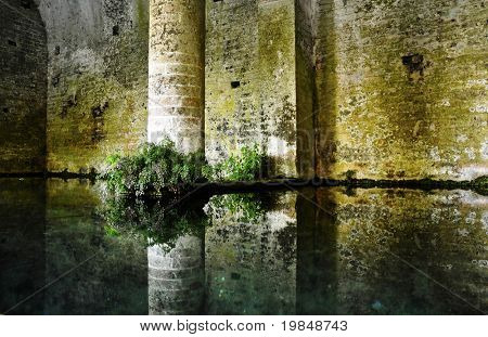 San Gimignano medieval fountain, Italy