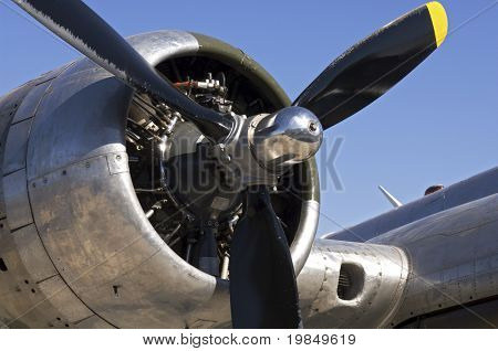 Propeller and engine of a B-17 bomber