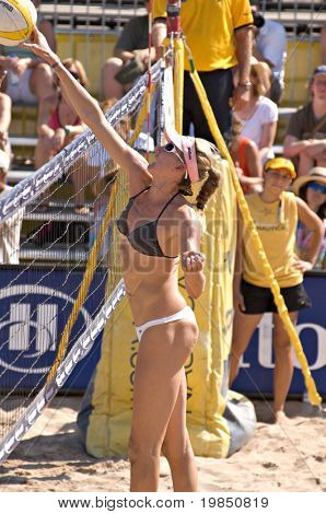 AZ - SEPTEMBER 27: Olympic gold medalist Kerri Walsh competes at the AVP Best of the Beach volleyball tournament in Glendale, Arizona