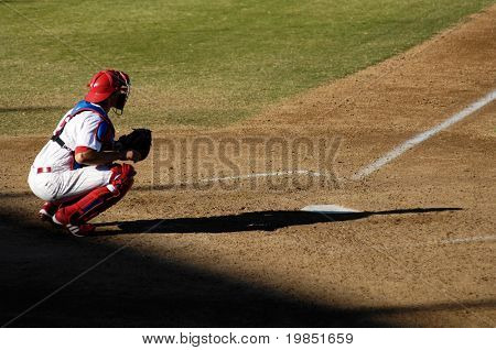 MESA, AZ - NOV 20: Lou Marson of the Mesa Solar Sox catches in the Arizona Fall League baseball game with the Scottsdale Scorpions on November 20, 2008 in Mesa, Arizona.