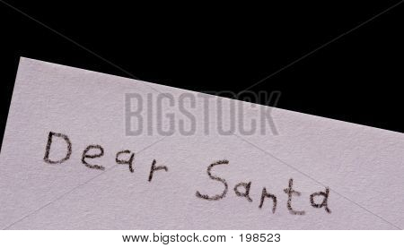 Dear Santa Isolated On Black