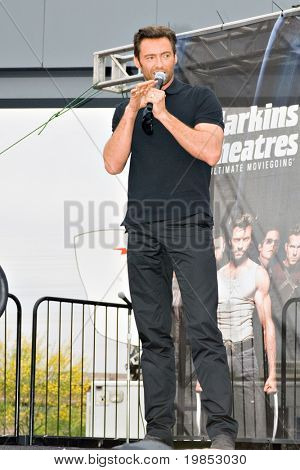 TEMPE, AZ - APRIL 27: Actor Hugh Jackman appears at the premiere of X-Men Origins: Wolverine on April 27, 2009 in Tempe, AZ.