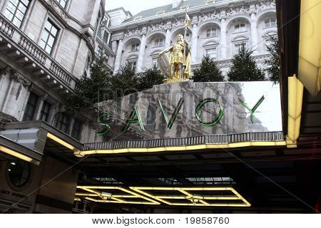 LONDON- JAN 2: Famous savoy hotel, reopened after multi million pound facelift. JAN 2, 2011 in LONDON.