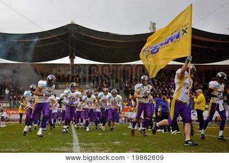 VIENNA, AUSTRIA - MAR 29: Austrian Football League: The Vienna Vikings win their game against the Blue Devils 27:0 on March 29, 2009 in Vienna, Austria.
