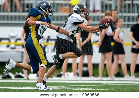 VIENNA,  AUSTRIA - JULY 4 Austrian Football League - Iron Bowl II: WR  Raphale Valenta (#89, Knights) and his team lose 20:26 to the LA Titans on July 4, 2009 in Vienna, Austria.