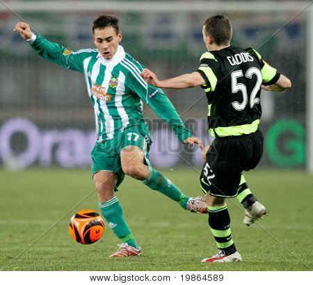 Viena, Áustria - 17 de dezembro: SK Rapid joga 3:3-Celtic Glasgow em 17 de dezembro de 2009 em Viena,