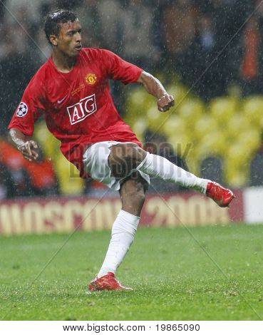 Nani at the Champions League Final held at Luzhniki Stadium Moscow 21 May 2008 and contested by Manchester United v Chelsea FC