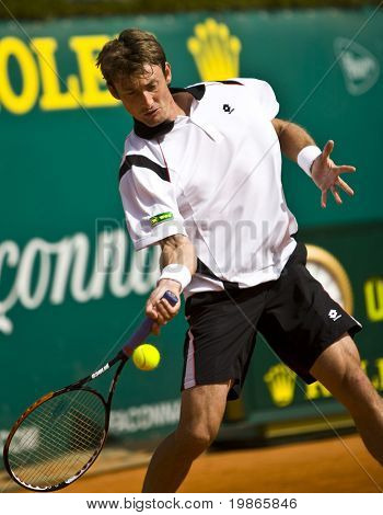 MONTE CARLO MONACO APRIL 21 Juan Carlos Ferrero Spain competing at the ATP Monte Carlo Masters in Monaco