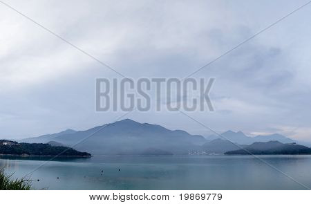 Panoramic Landscape Of Lake