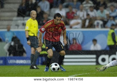 INNSBRUCK - JUNE 10: Santi Cazorla of Spain Football National Team during the match Spain-Russia 4:1 Euro2008 Group D. June 10, 2008, in Innsbruck, Austria