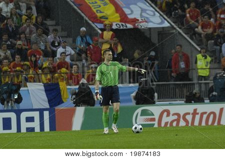 INNSBRUCK - JUNE 10: Igor Akinfeev of Russia Football National Team during the match Spain-Russia 4:1 Euro2008 Group D. June 10, 2008, in Innsbruck, Austria