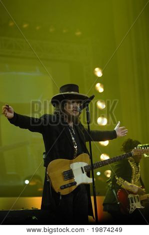 YEREVAN - NOVEMBER 11: Performace of italian blues singer Zucchero during the Jivan Gasparyan's 80years celebration evening. November 11, 2008, in Yerevan, Armenia