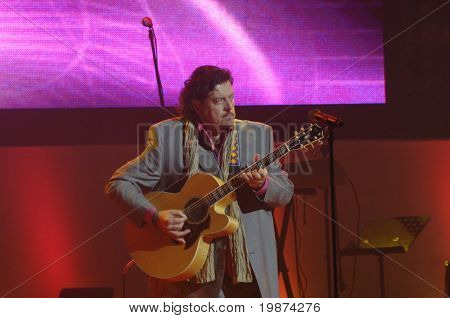 YEREVAN - NOVEMBER 11: Alan Parsons during Jivan Gasparyan's 80years celebration evening. November 11, 2008, in Yerevan, Armenia