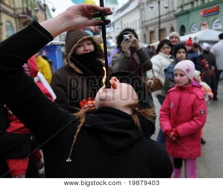 KAPOSVAR, HUNGARY - FEBRUARY 6: Unidentified participants at the 33th Dorottya and Carnival Days February 6, 2010 in Kaposvar, Hungary.