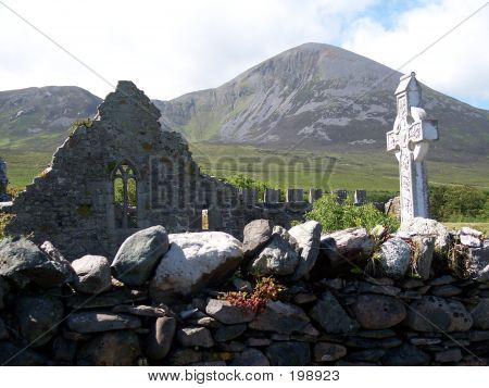 Murrisk Friary And Croagh Patrick Co Mayo
