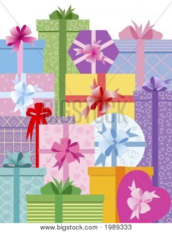 Gift Boxes Greeting Card