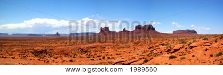 Approaching Monument Valley Panorama